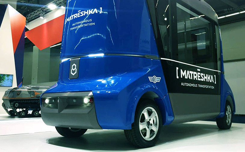 Первый российский беспилотный автобус показали во Франкфурте