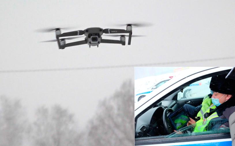 В ГИБДД показали, как штрафуют за встречку с помощью дронов