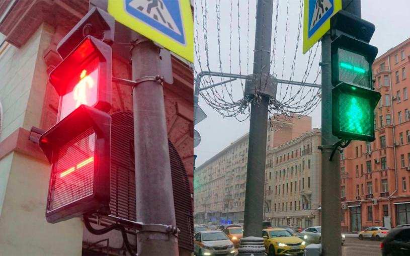 В Москве появились новые светофоры с квадратными секциями и камерами