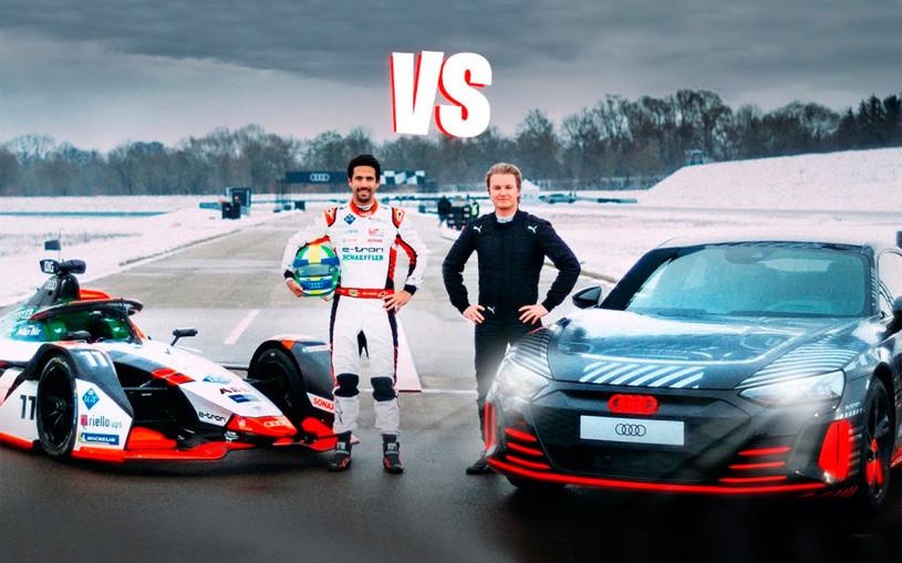 Гонку нового суперседана Audi и электрического болида показали на видео