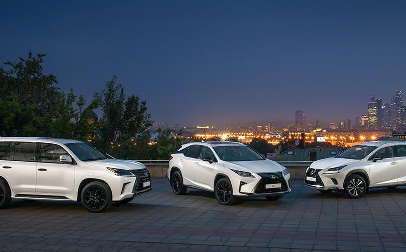 Lexus представил специальную «черную» серию кроссоверов