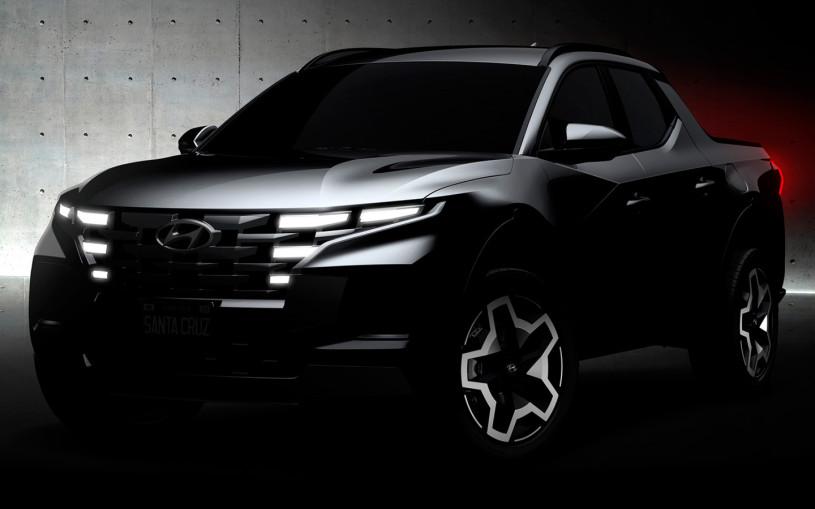 Hyundai показал на видео новый пикап Santa Cruz