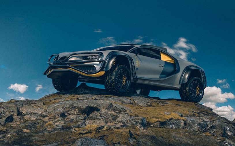 Дизайнер собрал супервнедорожник из Bugatti Chiron. Фото