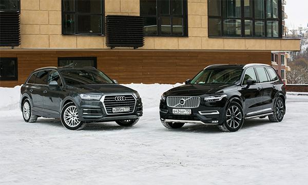 Звездный час. Тест-драйв Volvo XC90 и Audi Q7