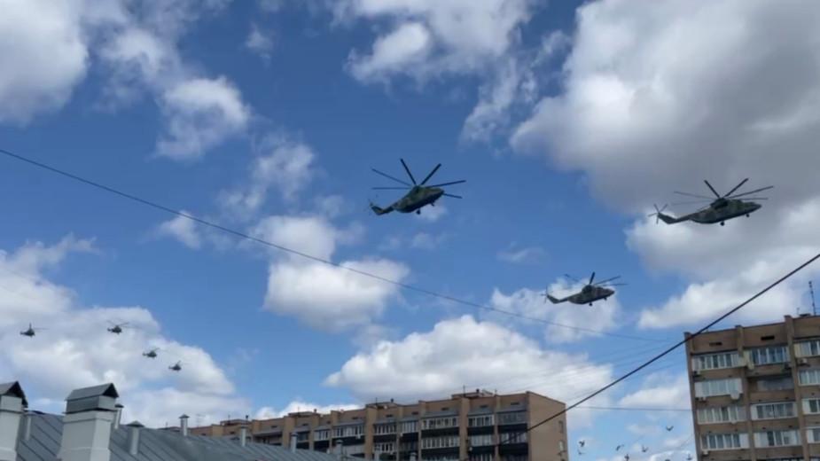 Репетиция воздушной части парада в Москве. Видео