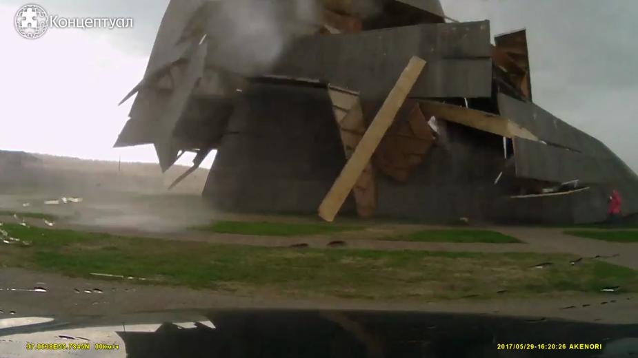 Ураган разрушил пирамиду Голода