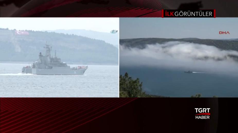 Российский военный корабль из-за тумана столкнулся с судном