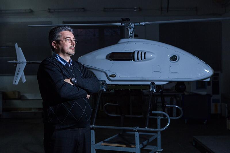 В конце 1990-х белорусские инженеры во главе с Владимиром Чудаковым (на фото) создали беспилотник с вертикальным взлетом и посадкой – им удалось найти свое место на мировом рынке