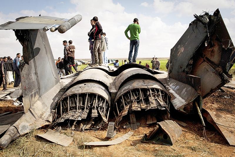 Американский тактический истребитель F-15 Eagle, потерпевший крушение вовремя проведения операции вЛивии. 22 марта 2011 года