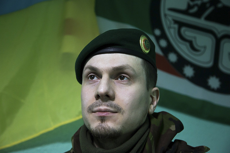 Адам Осмаев, лидер батальонаим. Джохара Дудаева, вкотором сражаются проукраински настроенные чеченцы
