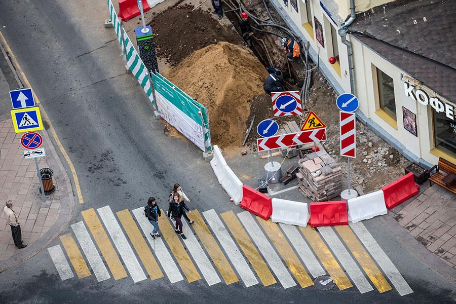Благоустройство улиц, прилегающих кБульварному кольцу, вМоскве. Май 2016 года