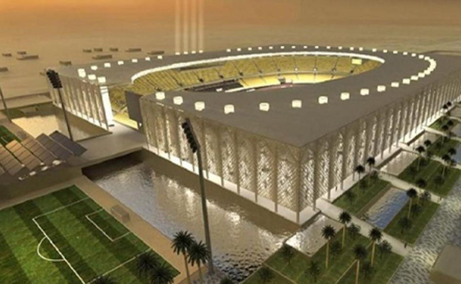 Najaf Stadium (Эн-Наджаф, Ирак). Вместимость 30 000 зрителей, сроки строительства — 22 мая 2012г. — 2018г., стоимость строительства — $90 млн.