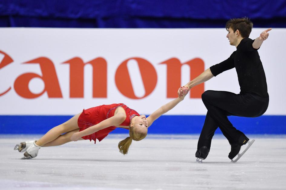 15 марта 2017 года. Екатерина Александровская и Харли Уиндзор во время соревнований в Москве