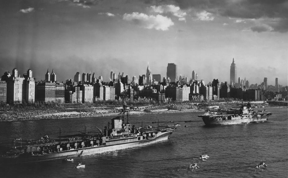Манхэттен в Нью-Йорке, 27 октября 1945 года