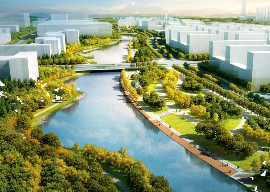 Система водных сооружений планируется уникальной длякаждого квартала истанет своего рода визитной карточкой