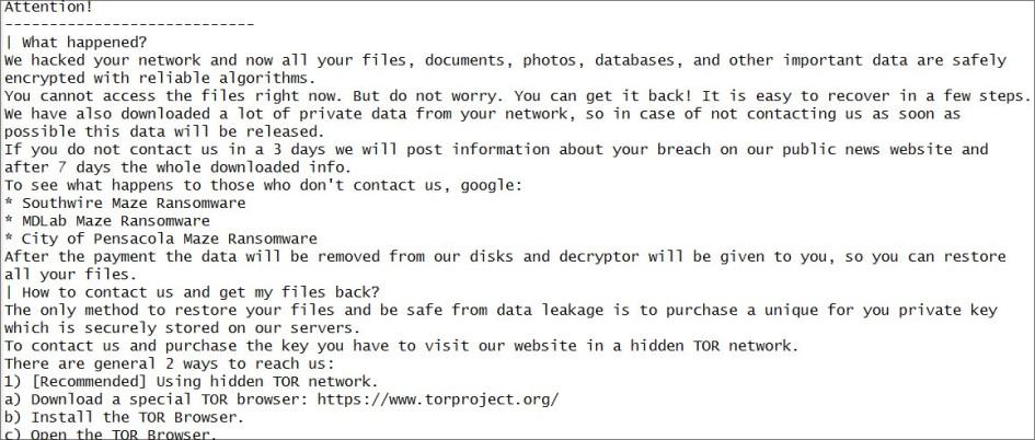 Письмо от хакеров