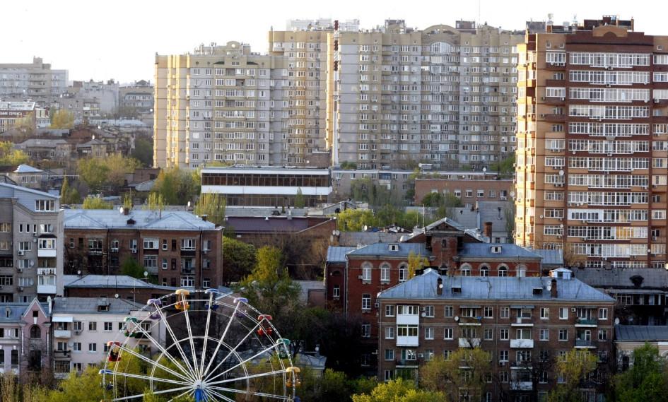Ростов-на-Дону, вид нажилые дома у парка имени Горького