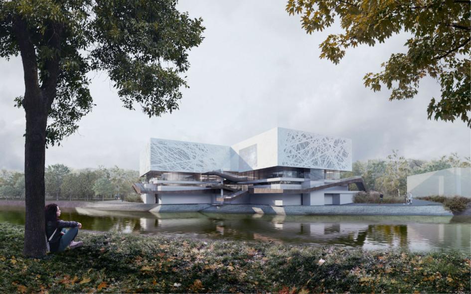 Из портфолио архитектурного бюро IQ: проект павильона на ВДНХ
