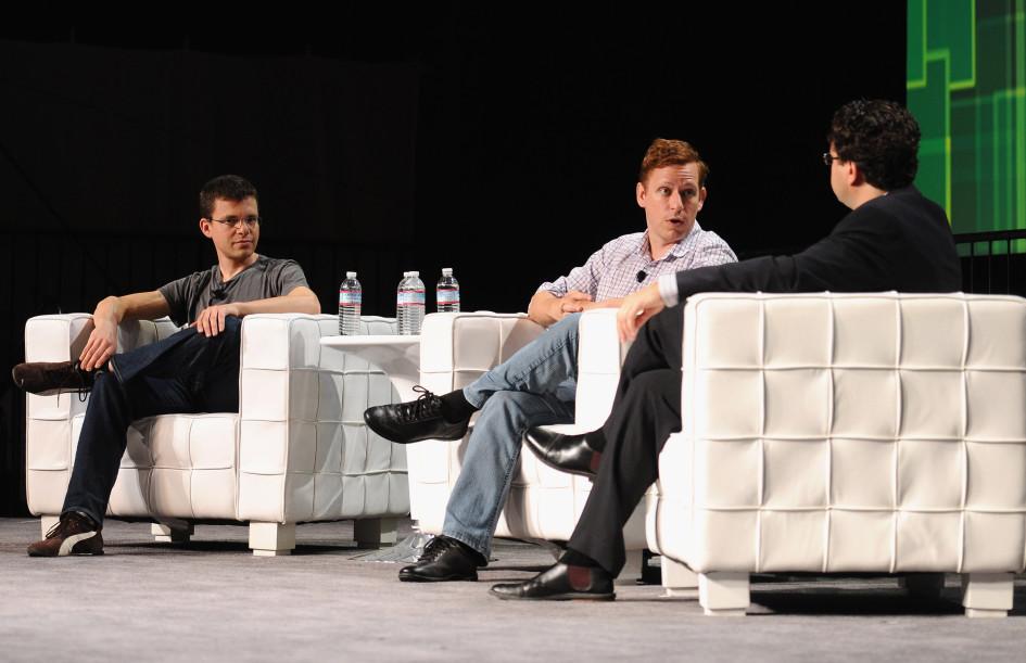 Макс Левчин и Питер Тильна TechCrunch Disrupt в 2011 году
