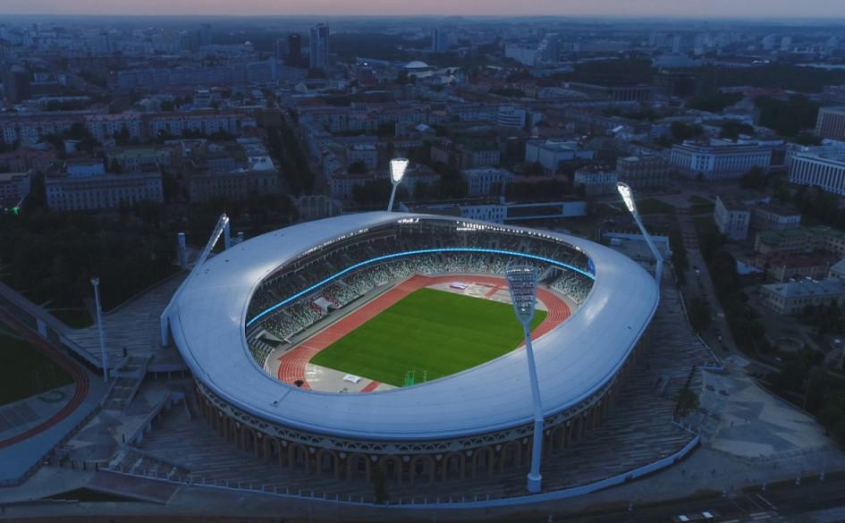 Национальный олимпийский стадион «Динамо» (Минск, Белоруссия). Вместимость 22 246 зрителей, сроки строительства — 2014 — 31 мая 2018г., стоимость строительства — $206 млн.