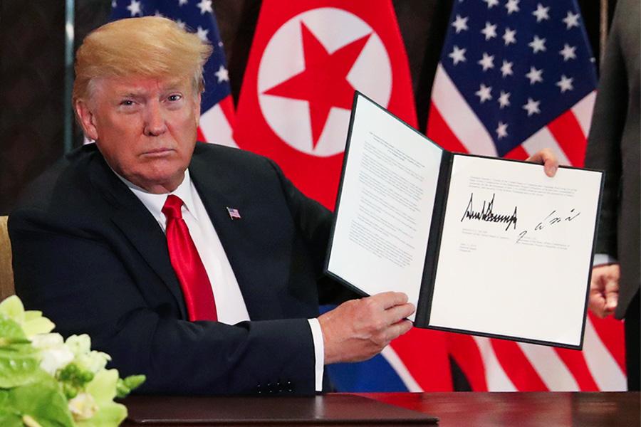 Что подписали Трамп и Ын?