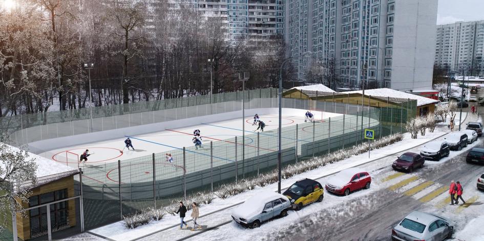 Проект спортивной площадки в районе Чертаново Южное