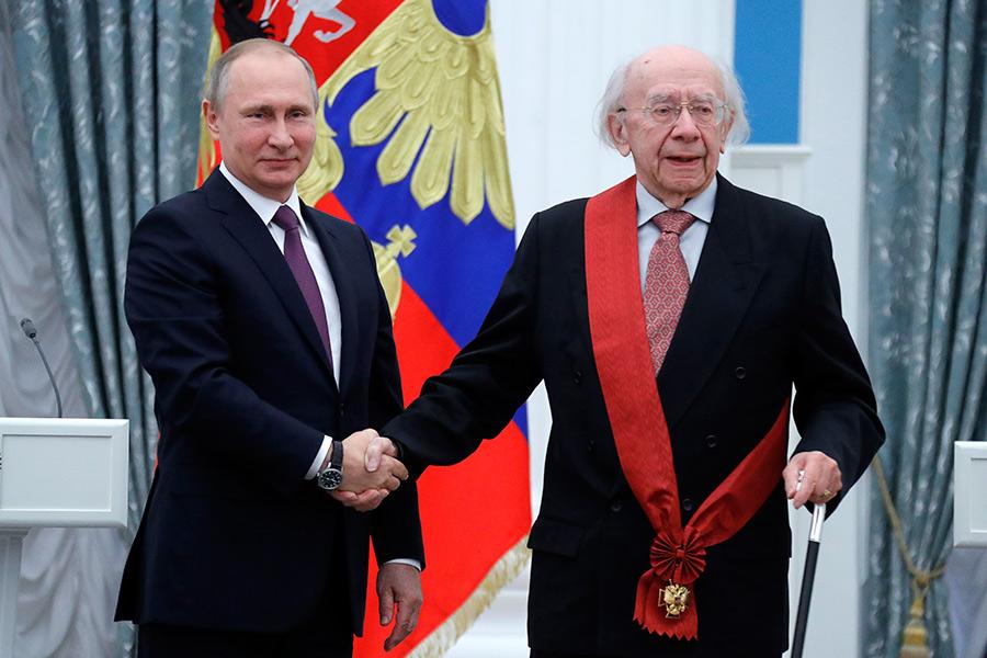 Владимир Путин иГеннадий Рождественский