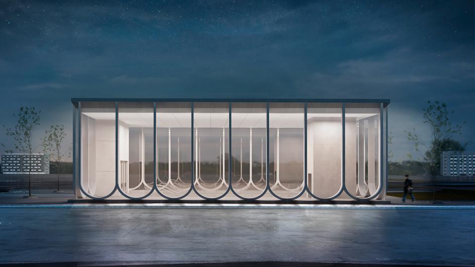 Из портфолио: конкурсный проект фасадов вестибюля станции «Кленовый бульвар»