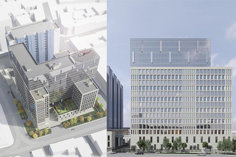 Информационный стенд обещает, что строительство нового «комплекса зданий Следственного комитета Российской Федерации со встроенной автостоянкой на 200 машино-мест и встроенными административно-бытовыми помещениями» будет завершено к концу 2018 года