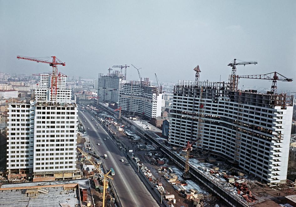 Строительство проспекта Калинина в Москве, 1967 год