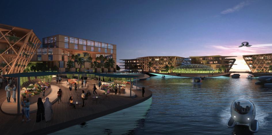 Дома здесь построят из натуральных и стойких материалов, таких как древесина и бамбук. Oceanix City сможет спасти прибрежные города, 90% которых ожидает повышение уровня моря и частичное затопление к 2050 году