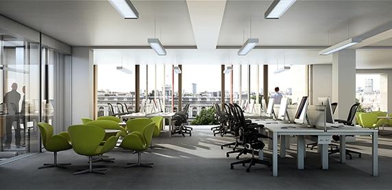 Офисы в здании будут организованы по принципу open-space
