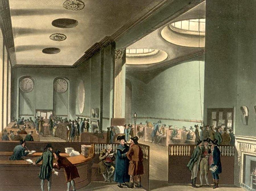 Центральный офис Lloyd's, Лондон, начало XIX века