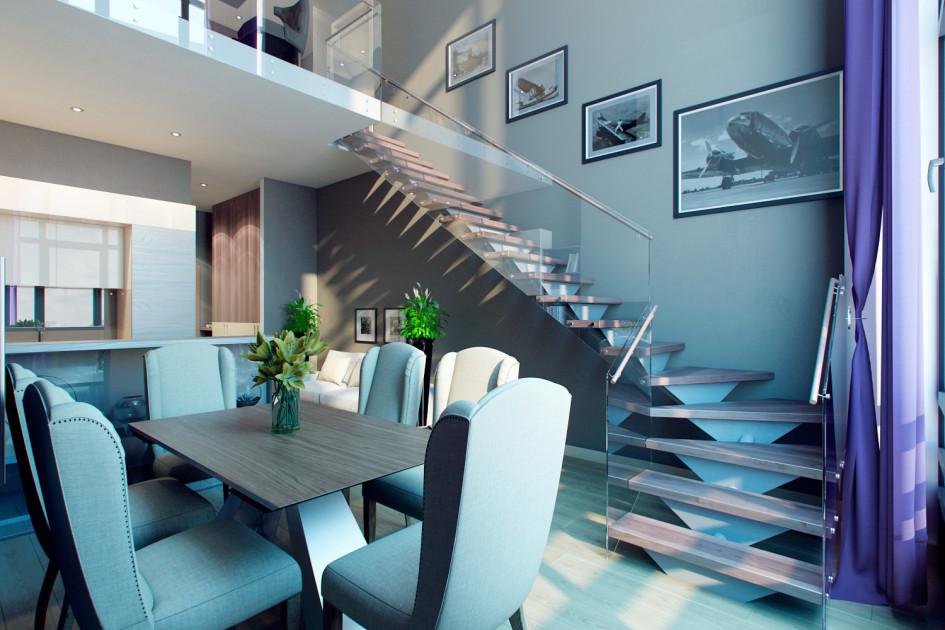 Двухуровневая квартира вжилом комплексе «Лица»