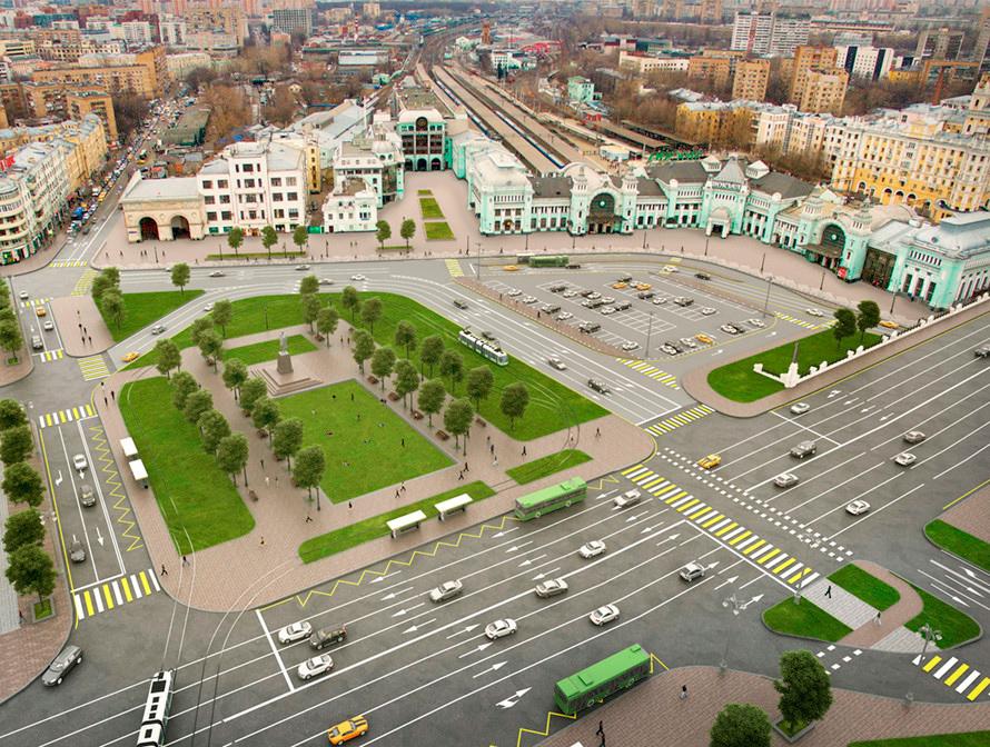 Кроме памятника на площадь Тверская Застава вернут трамвайные пути