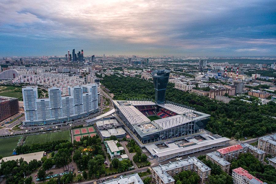 Вид на стадион «ВЭБ Арена»