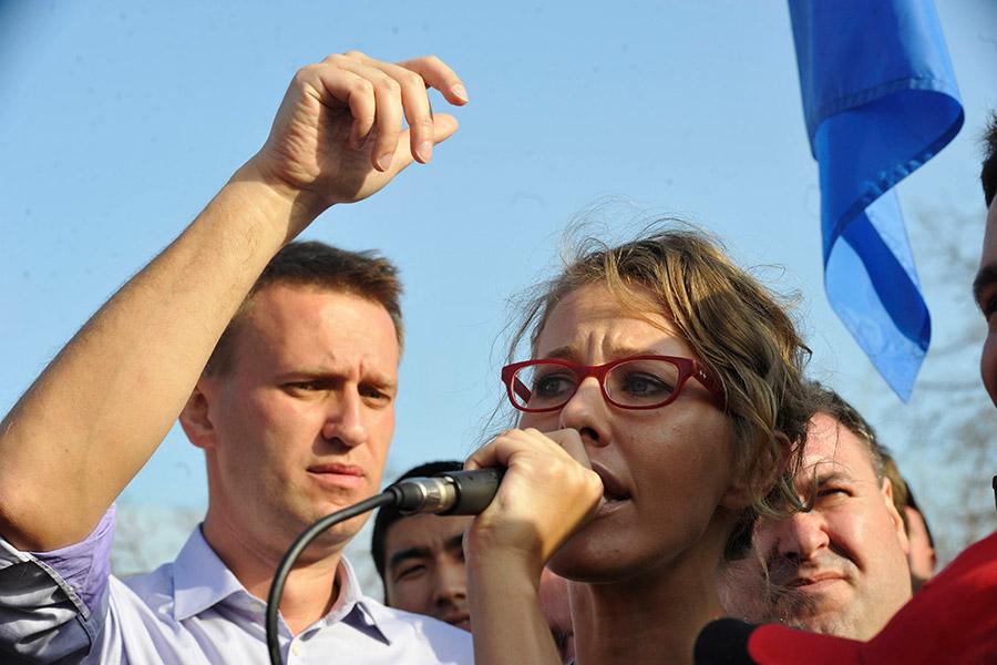 Алексей Навальный и Ксения Собчак. 2012 год