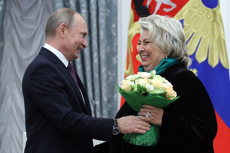 Владимир Путин и Татьяна Тарасова
