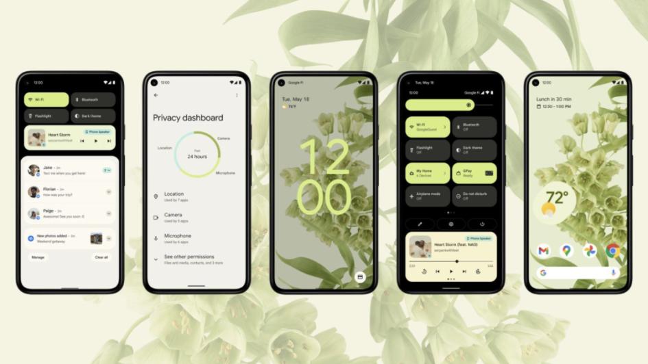 Экраны Android 12