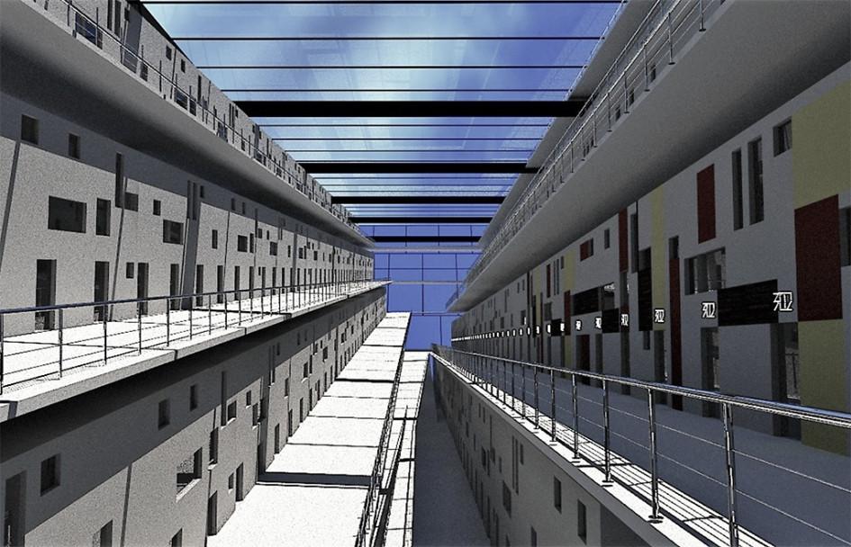 Визуализация тюремного коридора