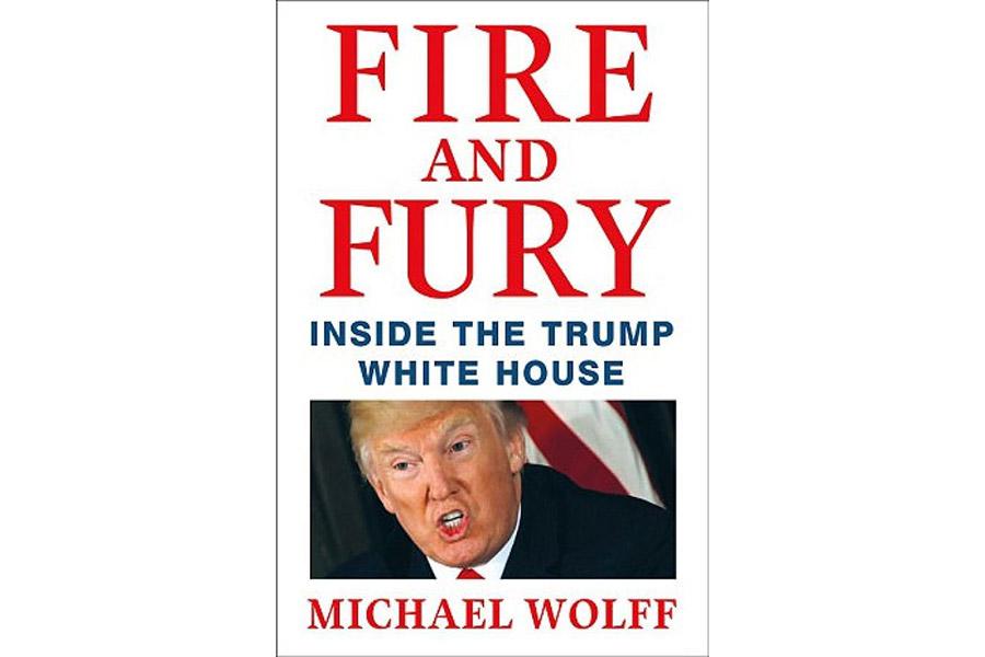 Обложка книги «Огонь и ярость: внутри Белого дома Трампа»
