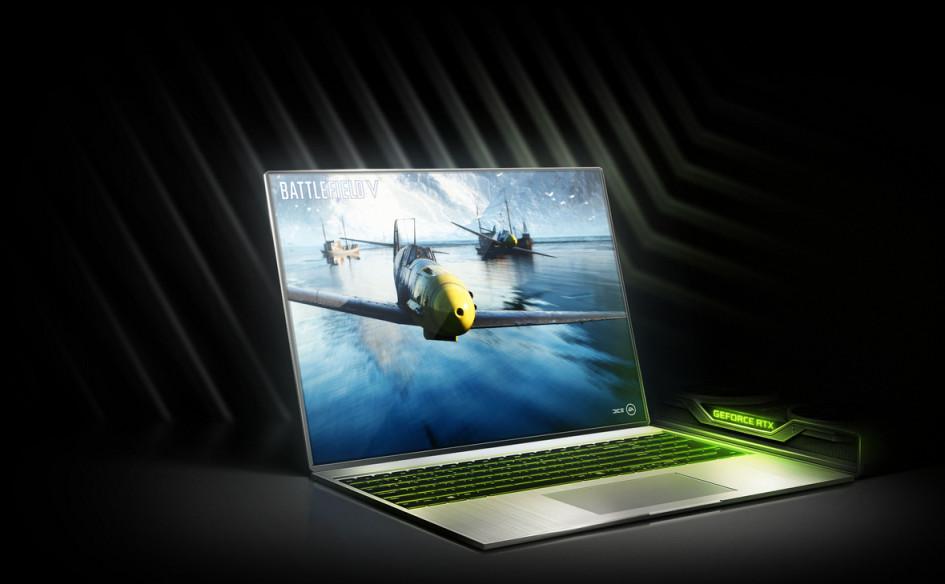 Игровой ноутбук с видеокартой GeForce RTX 20-й серии