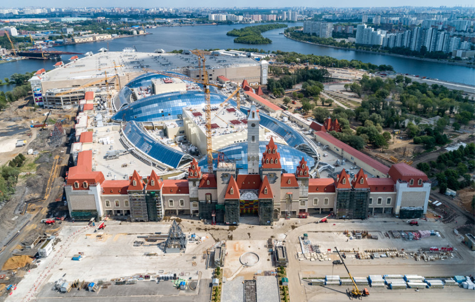 Строительство парка развлечений «Остров мечты» в Москве