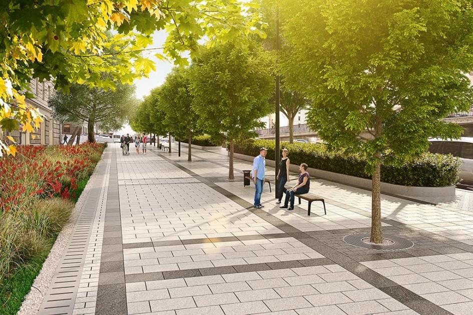 Визуализация проекта реконструкции Садовой-Триумфальной улицы