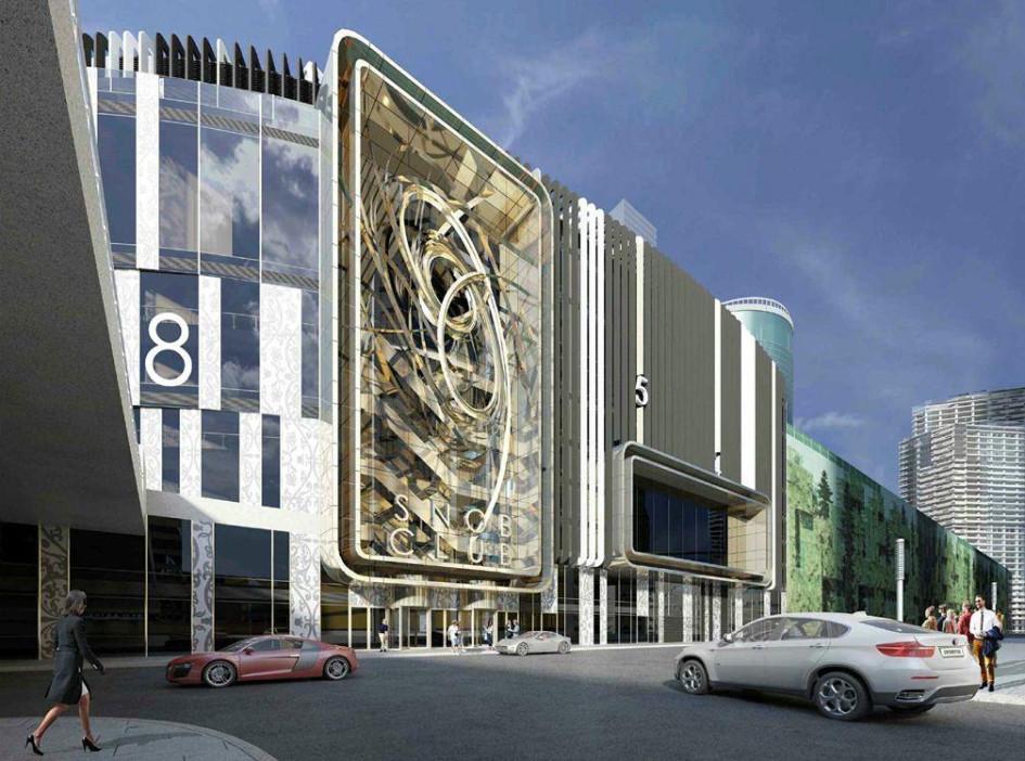 Визуализация фасада здания в«Москва-Сити»