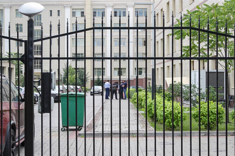 Территория, где расположен офис ОРКК в Москве. 20 июля 2018 года