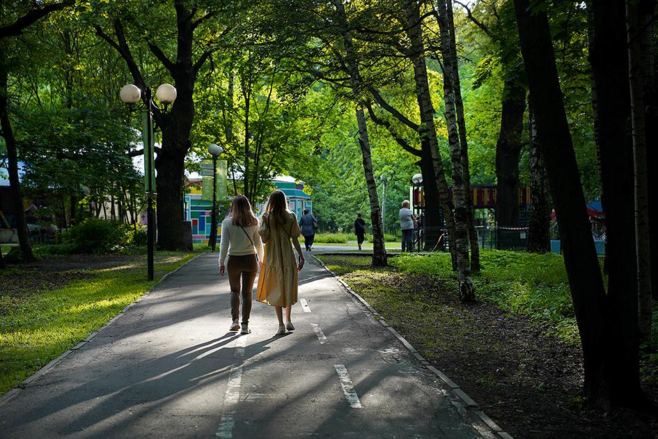 В парке им. Льва Толстого в Химках