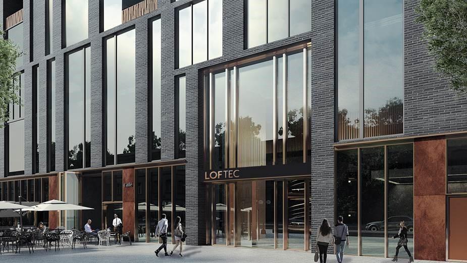 Архитектурное решение фасадов лофт-комплексаLoftec
