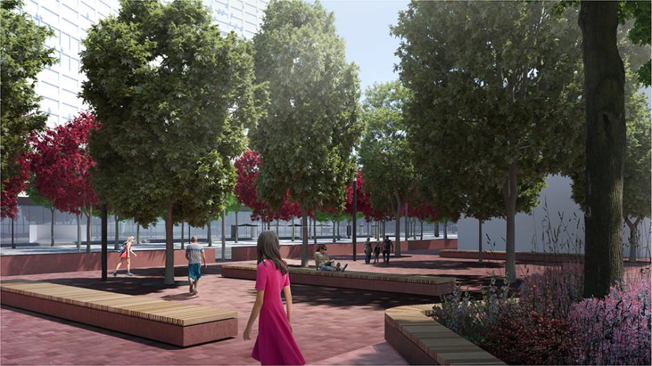 По задумке архитекторов четная сторона Нового Арбата должна была стать тихой зоной