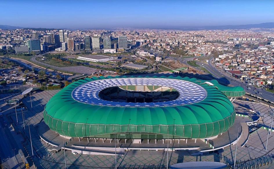 Timsah Arena (Бурса, Турция). Вместимость 43 877 зрителей, сроки строительства — 1 июля 2011г. — 2018г., стоимость строительства — $44,3 млн.